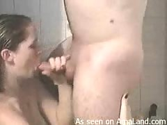 Hot cum explosion in the showers videos