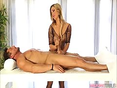 Cameron Dee at Milking Table